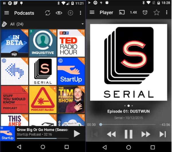 Podcast Addict – all your podcasts in one place