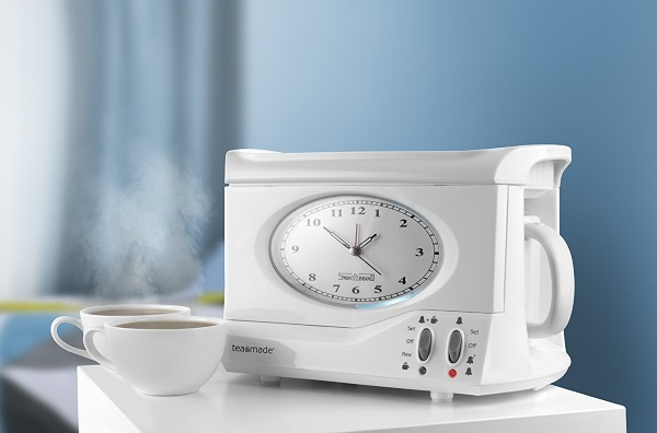 Teasmade Alarm Clock – tea, first thing in the morning, literally!