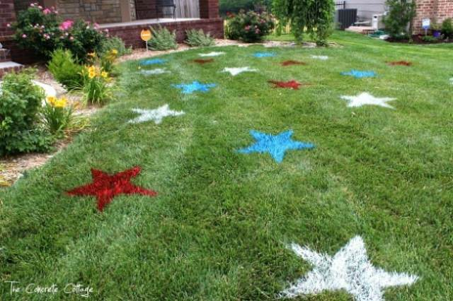 1_paint.4th of July Painted Lawn Stars
