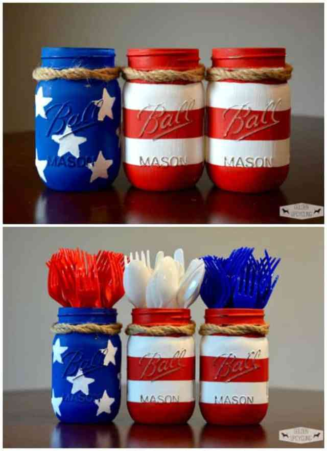 4_jar.Mason-Jar-4th-of-July-Silverware-Holders