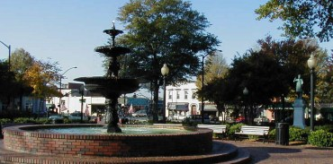 city square in downtown Marietta GA