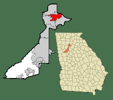 north fulton map for alpharetta ga