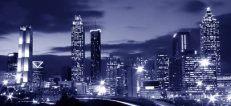 scenic skyline at night in Atlanta GA