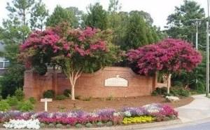 entrance for Fairmont in Milton GA