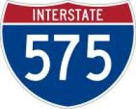 I - 575 emblem for Rope Mill Road in Woodstock GA