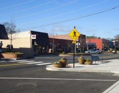pedestrian friendly downtown Woodstock