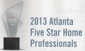 Five Star Award Woodstock