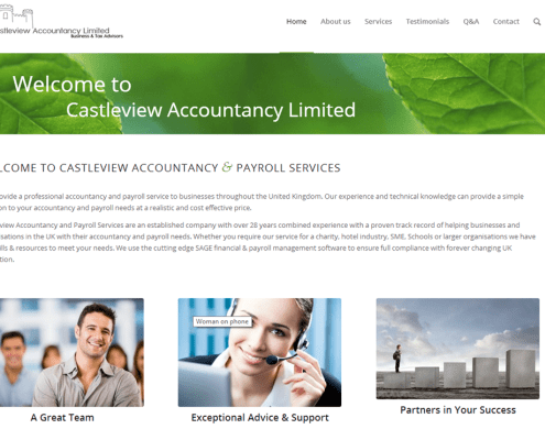 Castleview Accountancy website