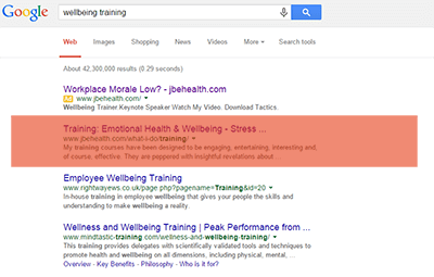 SERP-Screenshot-JBE-Health-seo-services-cardiff