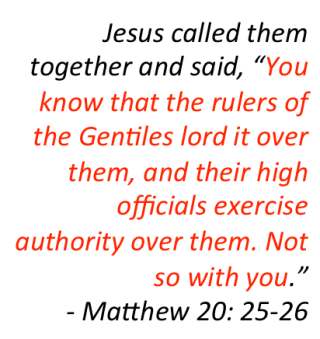 Matthew 20 25-26