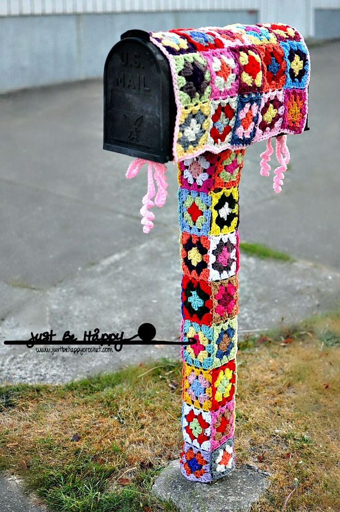 yarn bombing mailbox the mailbox