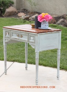 Sewing Table Turned Side Table