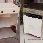 White Junk Cabinet side by side