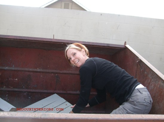 Stuck in Dumpster