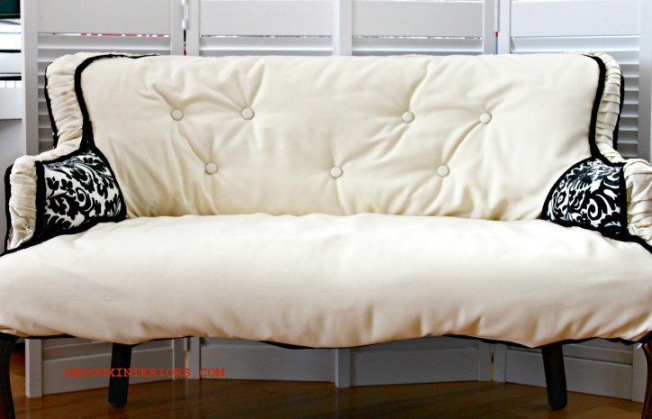 French Settee two tone Redouxinteriors