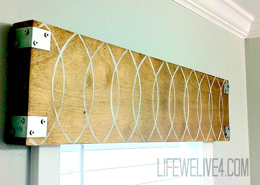 Industrial Wood Valance
