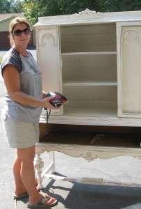 Melissa working