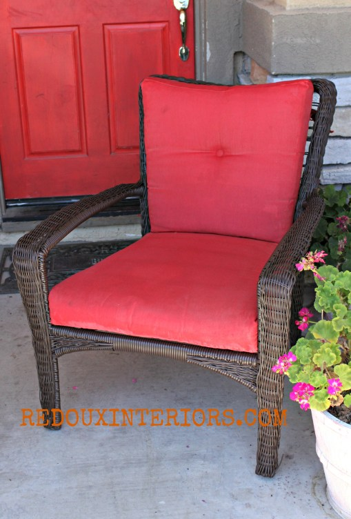 Red Patio chair wm