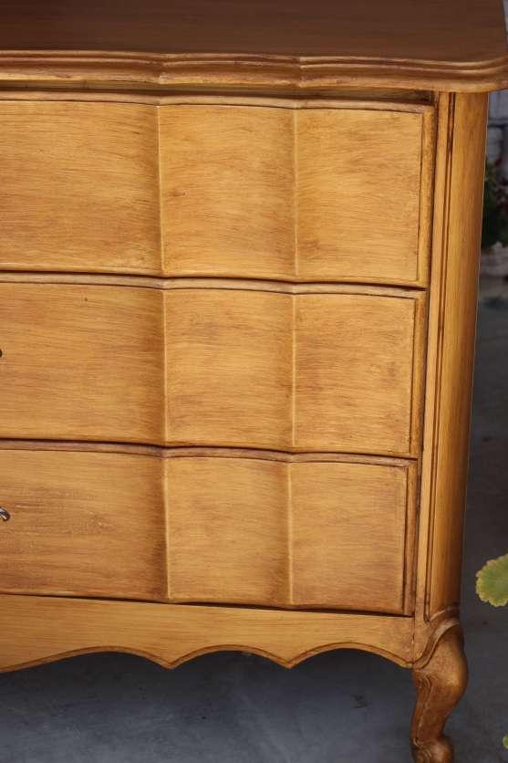 Gold French Dresser with Glaze Detail Redouxinteriors