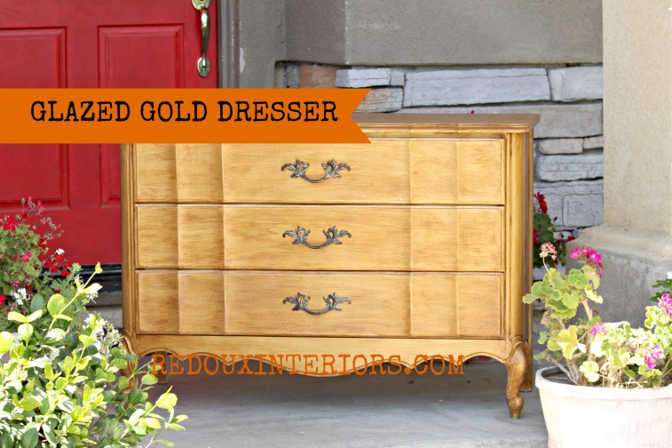 Gold and Glazed French Dresser Up Close banner Redouxinteriors