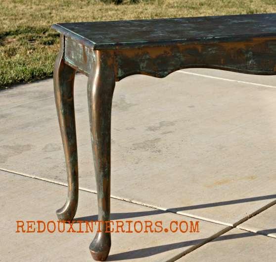 Table in Bronze Patina Redouxinteriors