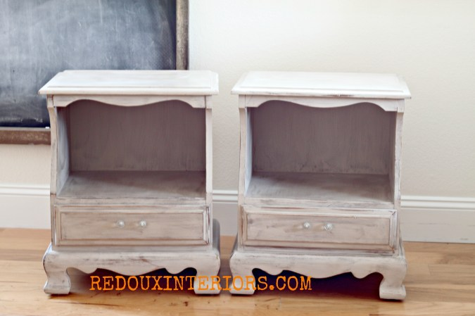 Vintage Nightstands in CeCe Young Kansas Wheat Redouxinteriors