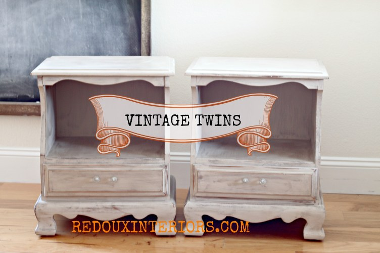 Vintage Nightstands in CeCe Young Kansas Wheat banner Redouxinteriors