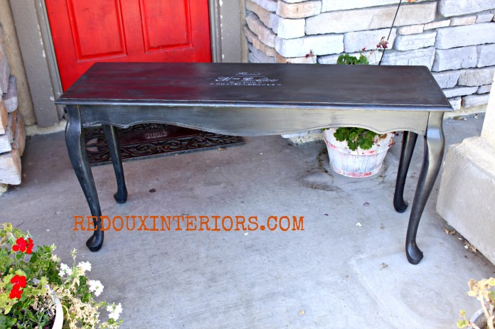 Black French Sofa Table Redouxinteriors