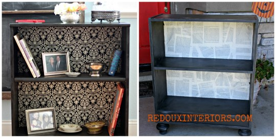 Bookshelf makeovers redouxinteriors