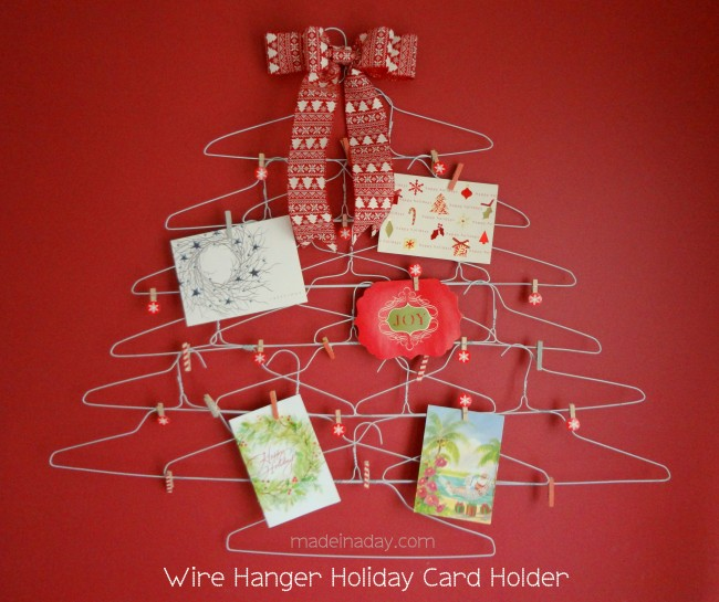 Wire-Hanger-Card-Holder- Made in a Day