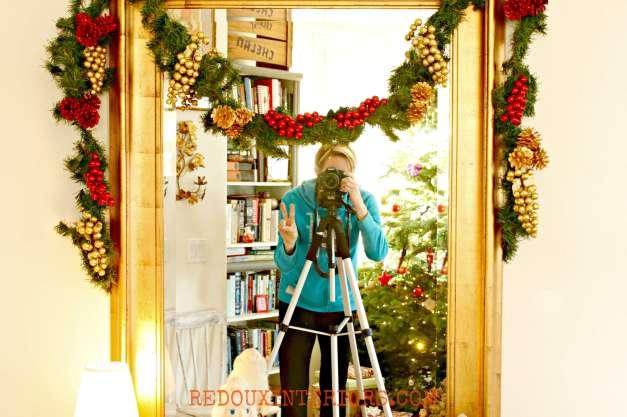 Christmas Entry Mirror Redouxinteriors