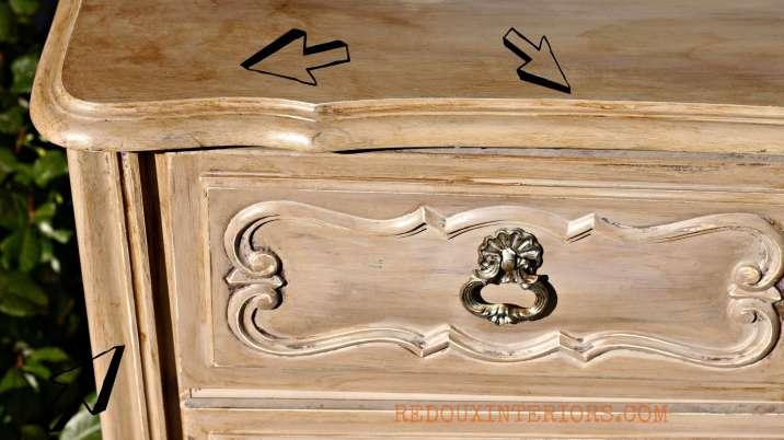 Glazed Dresser in Cece Caldwells Young Kansas Wheat arrows Redouxinteriors