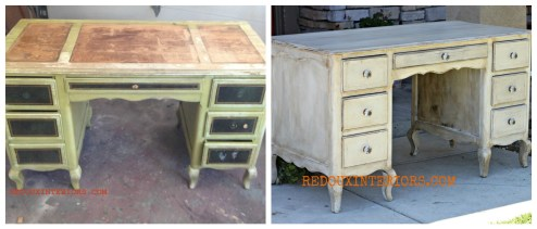 before and after dumpster desk redouxinteriors