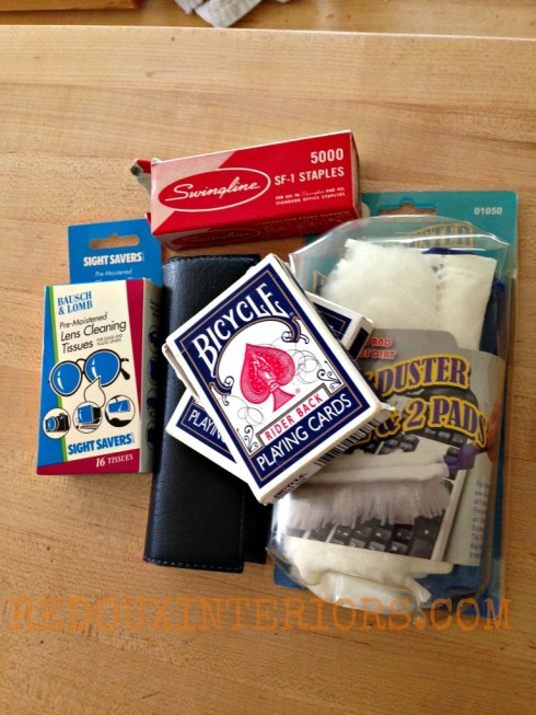 Cards, dusters, etc
