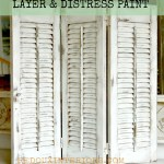 Decorative Shutters distressed redouxinteriors