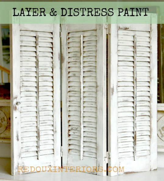 Decorative Shutters distressed redouxinteriors