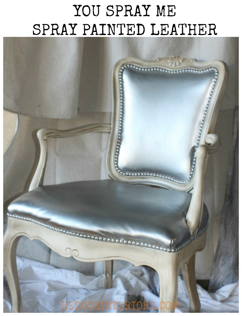 Spray Paint Leather Chair