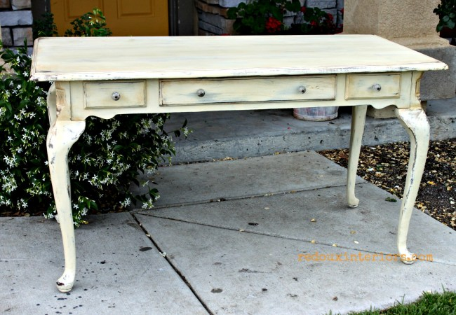 French table in gold and cece caldwells johnston daffodil redouxinteriors
