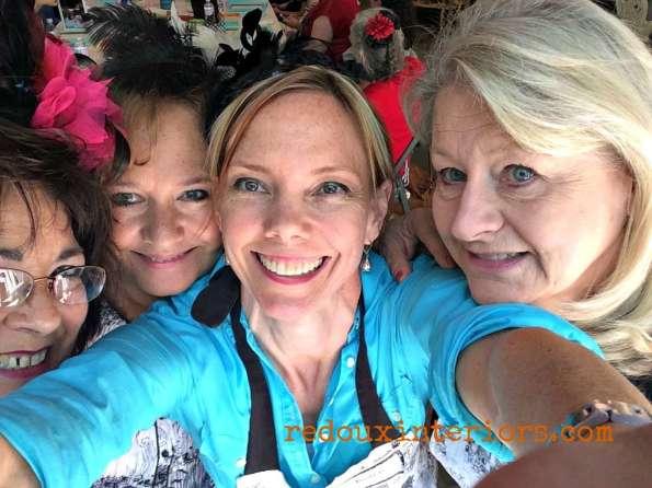 CeCe Caldwells Paris Flea Market fundraiser 2014 selfie redouxinteriors