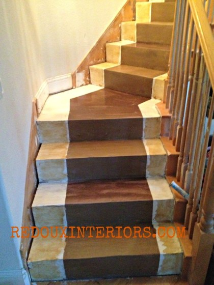 DIY stairs gone wrong redouxinteriors.jpb