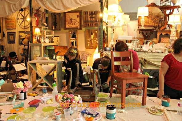 cece caldwells fundraiser paris flea paint class 2 redouxinteriors