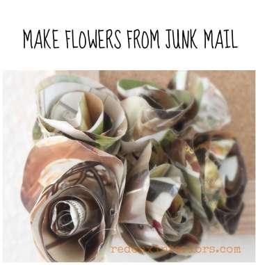 make junk mail into flowers redouxinteriors