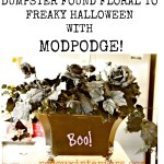 Floral Halloween Makeover ModPodge Redouxinteriors