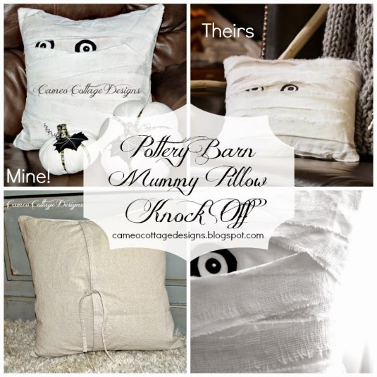 Pottery Barn + Mummy Decorative Pillow + Knock Off _ 012