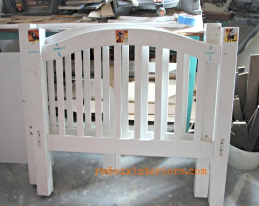 Twin bed frame found in dumpster redouxinteriors