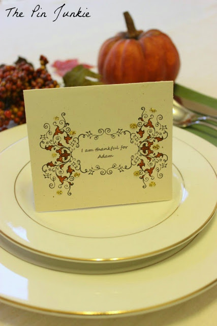 Thanksgiving seating card