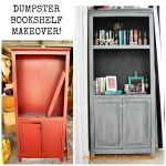 Junk bookshelf makeover before after redouxinteriors