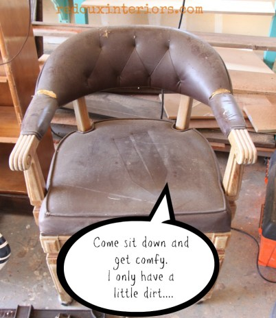 Old Chair vinyl dumpster dive find redouxinteriors