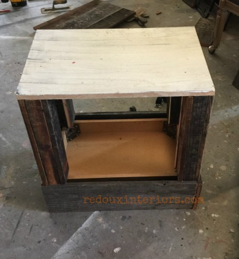 Junk Table with overlay bottom redouxinteriors