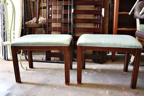 dumpster foud vanity stools redouxinteriors